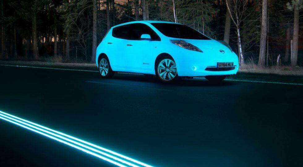 No es un Gusiluz, es un Nissan Leaf fluorecente
