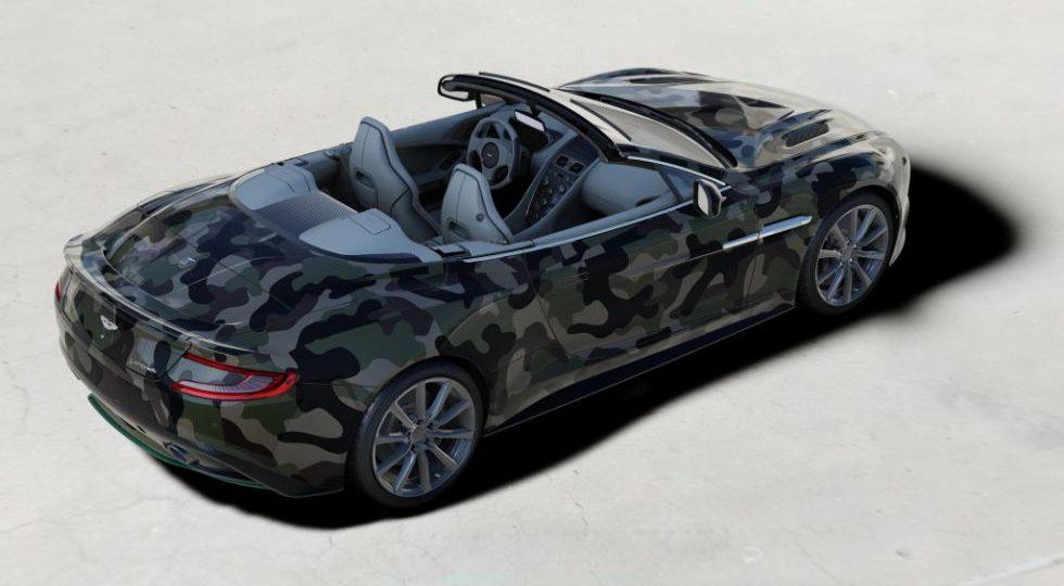 Un Aston Martin Vanquish de camuflaje por caridad