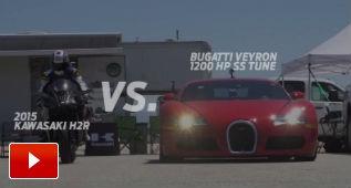 Kawa H2R contra Bugatti Veyron