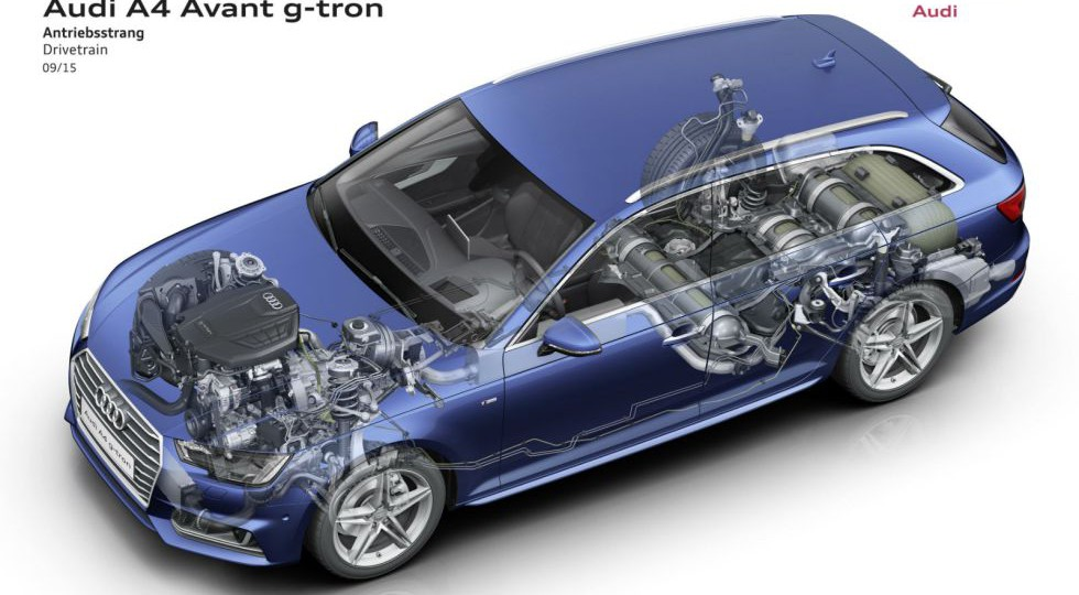 El A4 Avant g-tron consume gas y gasta 4 euros a los 100 km