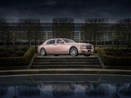 Rolls-Royce Sunrise Phantom: amanecer en rosa dorado
